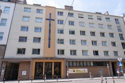 Außenfassade der Pauluskirche